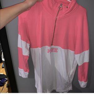 Pink quarter zip hoodie